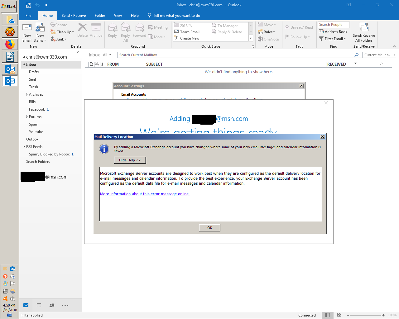 MSN Account   Oh boy what have I done? | Outlook Forums by