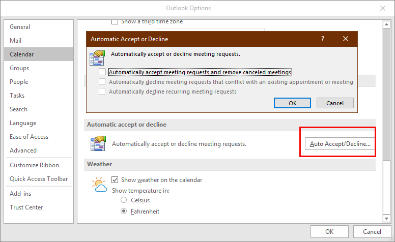 Auto Accept Meetings from the General Calendar | Outlook