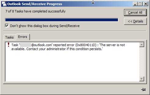 20190818 0814 Outlook 365 server not available.jpg