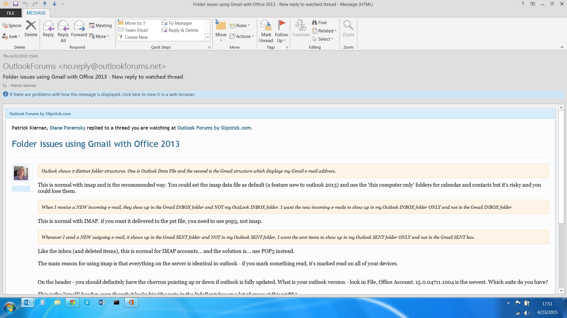 how to download only recent emails in outlook pop3